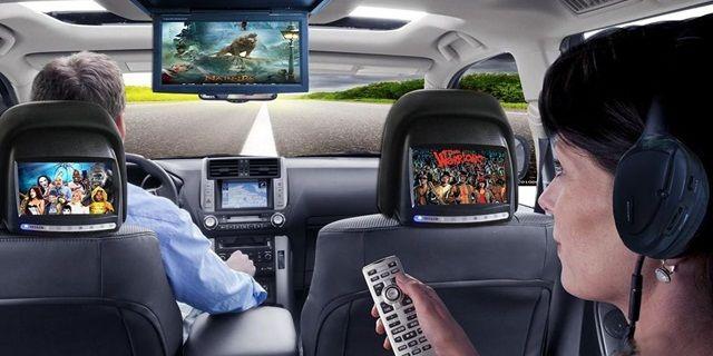 Aksesoris interior mobil unik Layar Monitor atau DVD Monitor Player